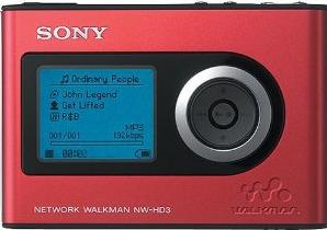 Sony Walkman NW-HD3 Actual Size Image
