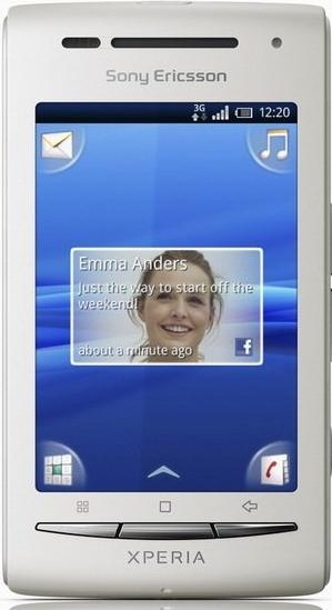 Sony Xperia X8 Actual Size Image