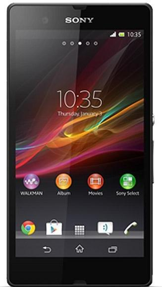 Sony Xperia ZL Actual Size Image
