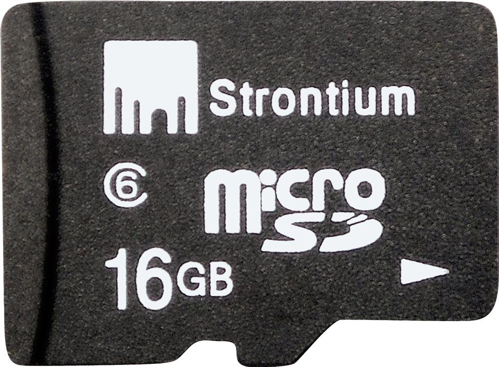 Strontium MicroSD Memory Card 16GB Actual Size Image