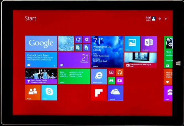 surface pro 3 Actual Size Image