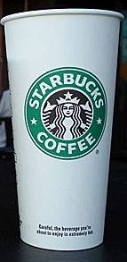 Tall Starbucks Coffee Cup Actual Size Image