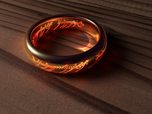The One Ring Actual Size Image
