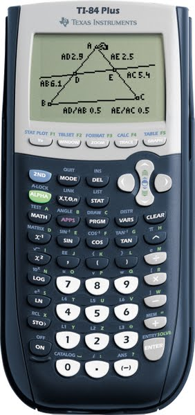 TI-84 Plus Calculator Actual Size Image