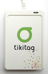 Tikitag. RFID Reader (NFC) from Alcatel-Lucent. (2) Actual Size Image