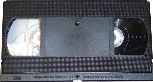 VHS Tape Actual Size Image