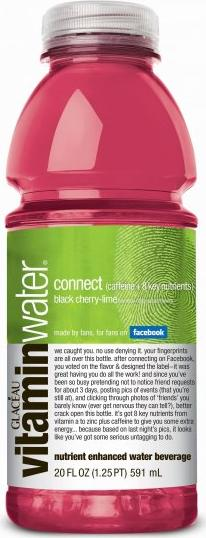 Vitamin Water bottle Actual Size Image