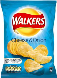 Walkers crisps packet Actual Size Image