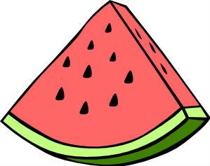 Watermelon slice Actual Size Image