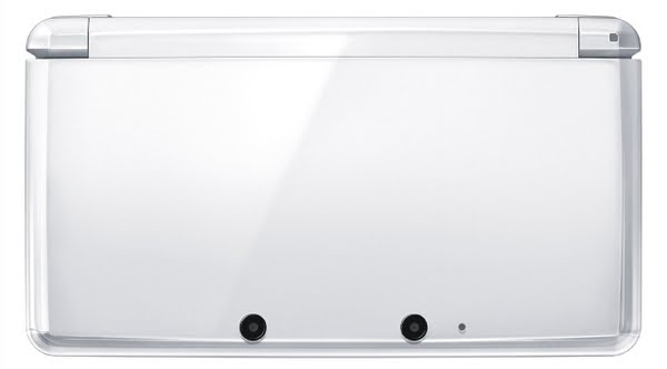 White Nintendo 3DS Actual Size Image