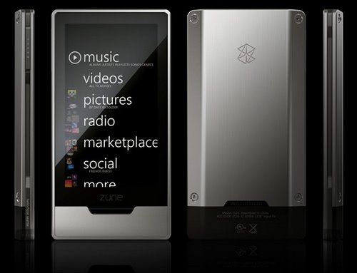 Zune HD (2) Actual Size Image